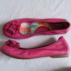 Born Magenta Leather Ballet Flats Women's 8.5